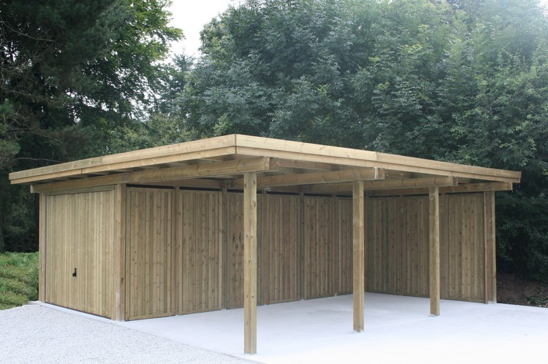 carport et abri de jardin en bois vannes am nagement ext rieur morbihan. Black Bedroom Furniture Sets. Home Design Ideas