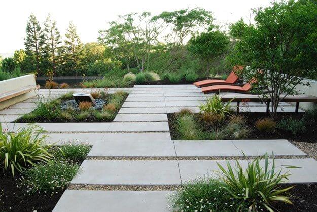 jardin-moderne et vegetaux graphique