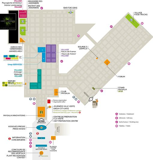 Le plan du salon paysalia 2017