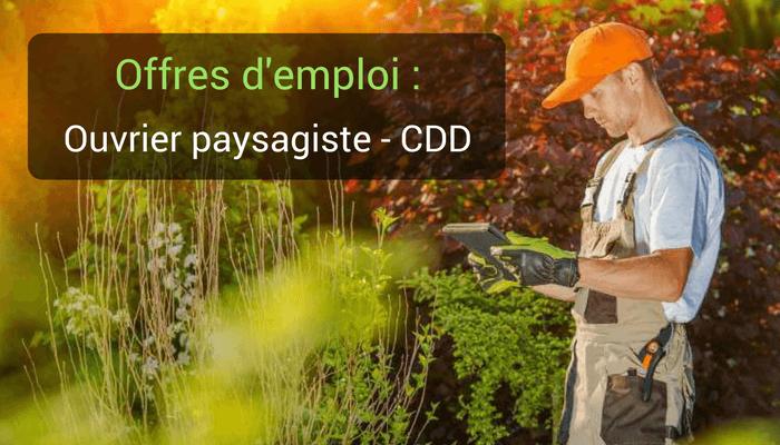 Offre d'emploi : Ouvrier Paysagiste région de Vannes – CDD/CDI