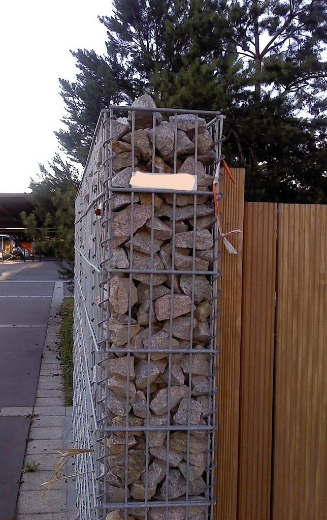 Gabion étroit, grillage simple