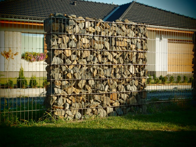 Gabion clôture, grillage simple
