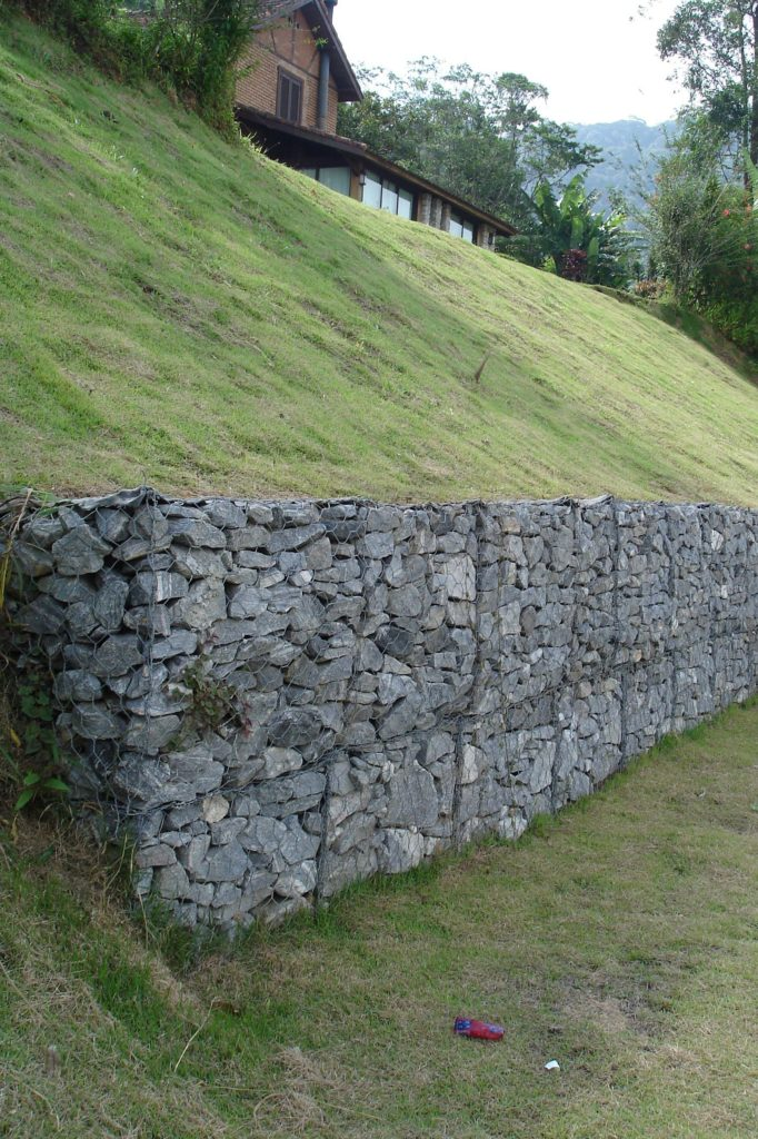 Gabion de renforcement, grillage double torsion